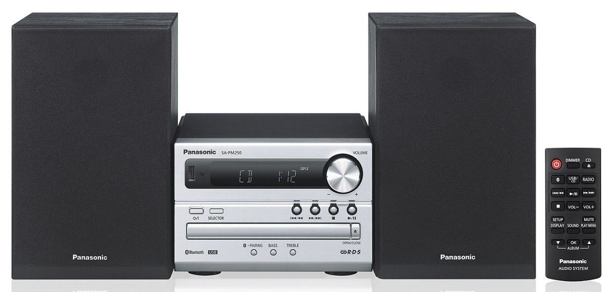 Panasonic SC-PM250EC-S Bluetooth mikrohifi
